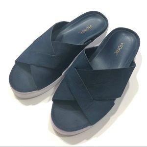Vionic Lou Platform Slide Sandals